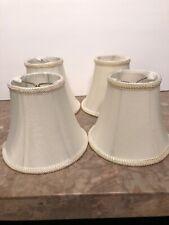 4 Candelabra Premium Clipon lamp shade Ivory 3x5 Chandelier shades