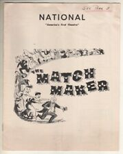 """The Matchmaker"" 1957 Playbill Post-Broadway Wash. DC  Ruth Gordon, Robert Morse"