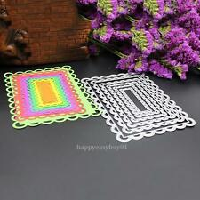 6X Rectangle Metal Cutting Dies Stencil DIY Scrapbooking Album Paper Card Craft