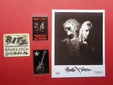 HUNTER and RONSON,1 Promo Photo,3 VERY Rare old Backstage Passes