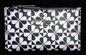 Kate Spade Clover Geo Small Slim Bifold Wallet Purple & Navy Blue NEW! Fast Ship