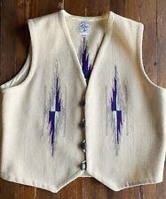 New listing Vintage Ortega's Chimayo Wool Aztec Vest 44