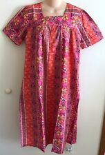 "~NWT~100% COTTON PINK/CORAL SQUARE NK FLORAL  DRESS  BY ""CW CLASSICS"" SIZE 2X"