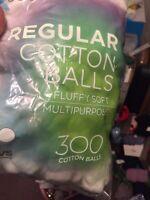 Cotton Balls 300 Ct Per Bag For Beauty Treatment Clean Scratch's  4x300 =1200 Ct