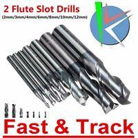 Fresa 2mm 3mm 4mm 6mm /8/10/12mm Solid Carbide End Mill 2 taglienti Flute Cutter