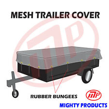 "utility trailer mesh cover with 10 pcs of 9"" rubber bungee 6x12 (MT-TT-0612)"