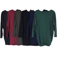 Italian Style Lagenlook Tunic Dress Top Blouse Plus Size 10 12 14 16 18
