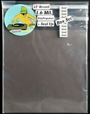 """50 Small Box Set Outer Sleeves 1.6mil + Seal Up Covers for 12"""" LP Vinyl Records"""