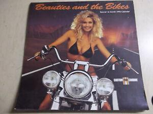 "Beauties and the Bike 1996 Calendar Custom Chrome Harley Davidson 12"" X 12"""