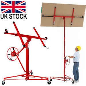 Caster Plasterboard Panel Sheet Lift Crane Drywall Plaster board Hoist Lifter UK