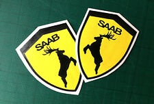 Saab shield moose decal elk sticker left right exterior animal sticker 2X
