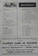 Autocar 2/7/1965 featuring Ford Taunus 20M road test, Porsche 911, Jensen C-V8
