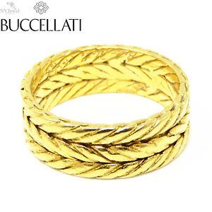NYJEWEL Buccellati 18k Yellow Gold 7mm wide Band Ring