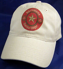 HURLIMANN SWISS LAGER BEER LABEL BALL CAP