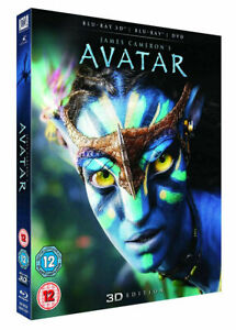 Avatar (Blu-ray/DVD, 2012, 2-Disc Set, Limited Edition 2D/3D) NEW w/slipcover*