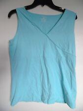 Jones New York Sport Aqua Sleeveless  shirt top  Tank  Sz L