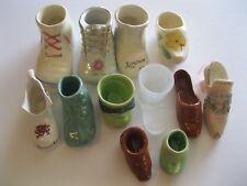 12 Shoes Boots & Booties Miniature Collectibles Pottery Porcelain Decorative