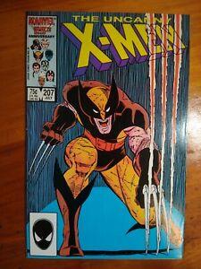 Uncanny X-MEN #207 Marvel Comicbook 1986 F to VF Wolverine/Phoenix story