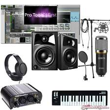 Home Recording Pro Tools Bundle Studio Package Midi 32 M-Audio Art Software!