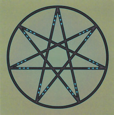 Fairy Star Healing Crystal Laminated Grid Card 8x8inch Moon Sun Mars Saturn