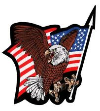 United States Flag w/ Eagle Biker Large Embroidered Back Patch Iron Sew RPPM8305