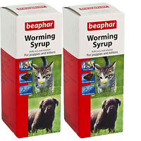 Sherley's Puppy/Kitten Worming Syrup 45ML -  2 Pack Deal