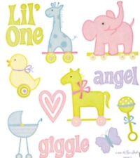 Baby Girl Boy Angel Nursery Glitter Scrapbook Stickers