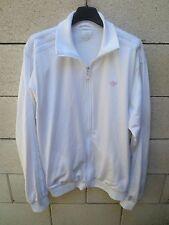 Veste ADIDAS rétro vintage blanc années 80 Trefoil rose giacca jacke tracktop L
