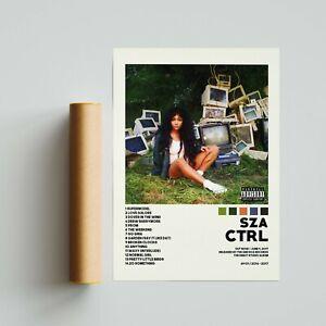 SZA Poster  CTRL Poster  SZA Tracklist Album Cover Poster  Album Cover Poster
