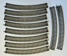 Vintage lot of 21 HO scale Curved Track - Silver Bachman/Unbranded