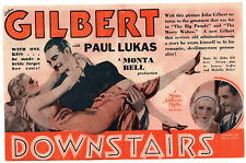 DOWNSTAIRS - Vintage 1932 MGM Film JOHN GILBERT Movie Herald VIRGINIA BRUCE