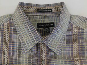 Jhane Barnes Mens Designer Colorful Striped Casual Shirt X-Large NICE