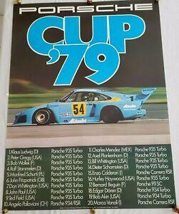 """Original Vintage RARE Porsche Race Poster """"Porsche Cup 79"""" (1979)"""