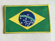 Brasil Flag Embroidered Sew/Iron On Patch Patches