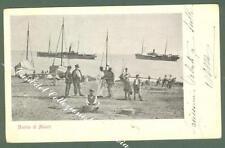 Campania. MAIORI, Salerno. La marina di Maiori. Cartolina viaggiata nel 1905.