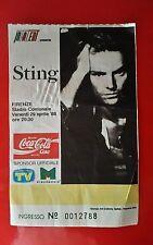 CONCERTO STING - FIRENZE - STADIO COMUNALE - VENERDÌ 29 APRILE 1988