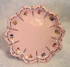 "H&C Czech Republic ROSE PORCELAIN hand painted petite 7"" plate stamped 38 Rosa"