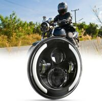 7 Inch Round LED Headlights Halo Angle Eyes Fit for Jeep JK Weatherproof