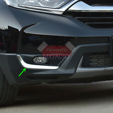 2x Steel Front Bumper Fog Light Eyelid Chrome Trim for Honda CRV CR-V 2017 2018
