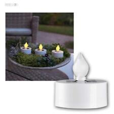 Juego de 3 Solar Té velas, Mini LED VELA CON SENSOR LUZ, para Interior &