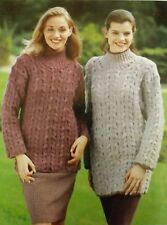 "Vintage Knitting Pattern Ladies Jumper/Sweater/Tunic Cable 28-44"" DK L5116"
