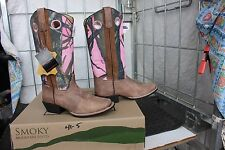 41-6 New Smoky Mountain WOMENS size 6 western boots PINK CAMO