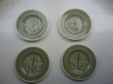 """One Susie Cooper Chinese Fern 6"""" Green plate hand painted"""