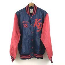 Men's Vintage Japanese Descente Baseball Bomber Varsity Jacket Nylon Size XL