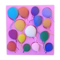 3D Silicone Balloons Cake Fondant Sugarcraft Mould A6W2 Decor Mold DIY Choc S3I2