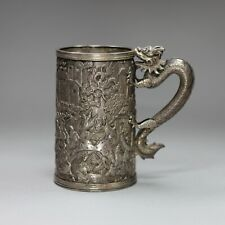 More details for chinese silver mug, late 19th century