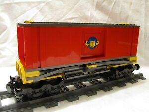Lego City Yellow Cargo Train Boxcar 60051/7939/3677/7938/60197