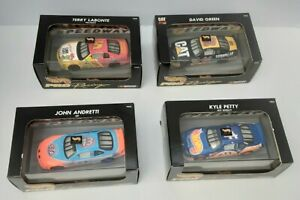 LOT of FOUR 1997 Hot Wheels Pro Racing NASCAR 1/43 Scale #`s 5, 43, 44 & 96