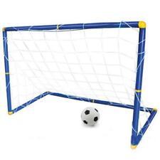 Folding Mini Football Soccer Ball Goal Post Net Set + Pump Kids Sport Indoor Out