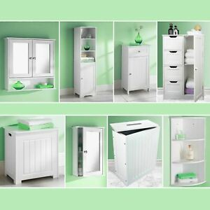 Bathroom Cabinet Storage Unit Mirror Door Cupboards Drawers Home Furniture